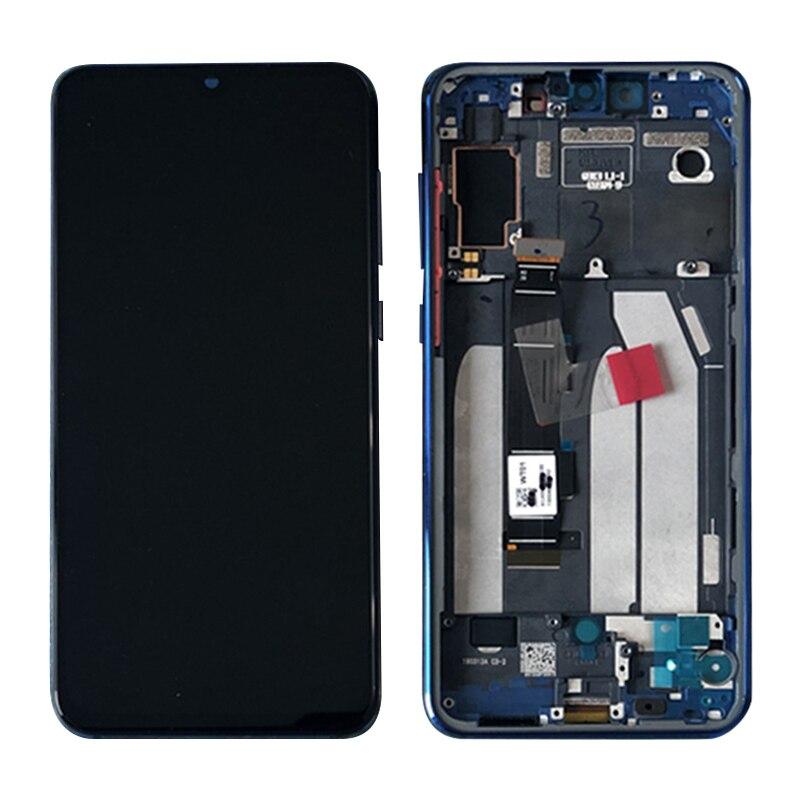 Super AMOLED LCD para Xiaomi Mi 9 SE Mi9 SE pantalla LCD de montaje de digitalizador con pantalla táctil + marco
