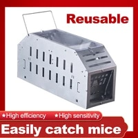 mice trap reusable mouse rat trap humane animal metal automatic mouse cage
