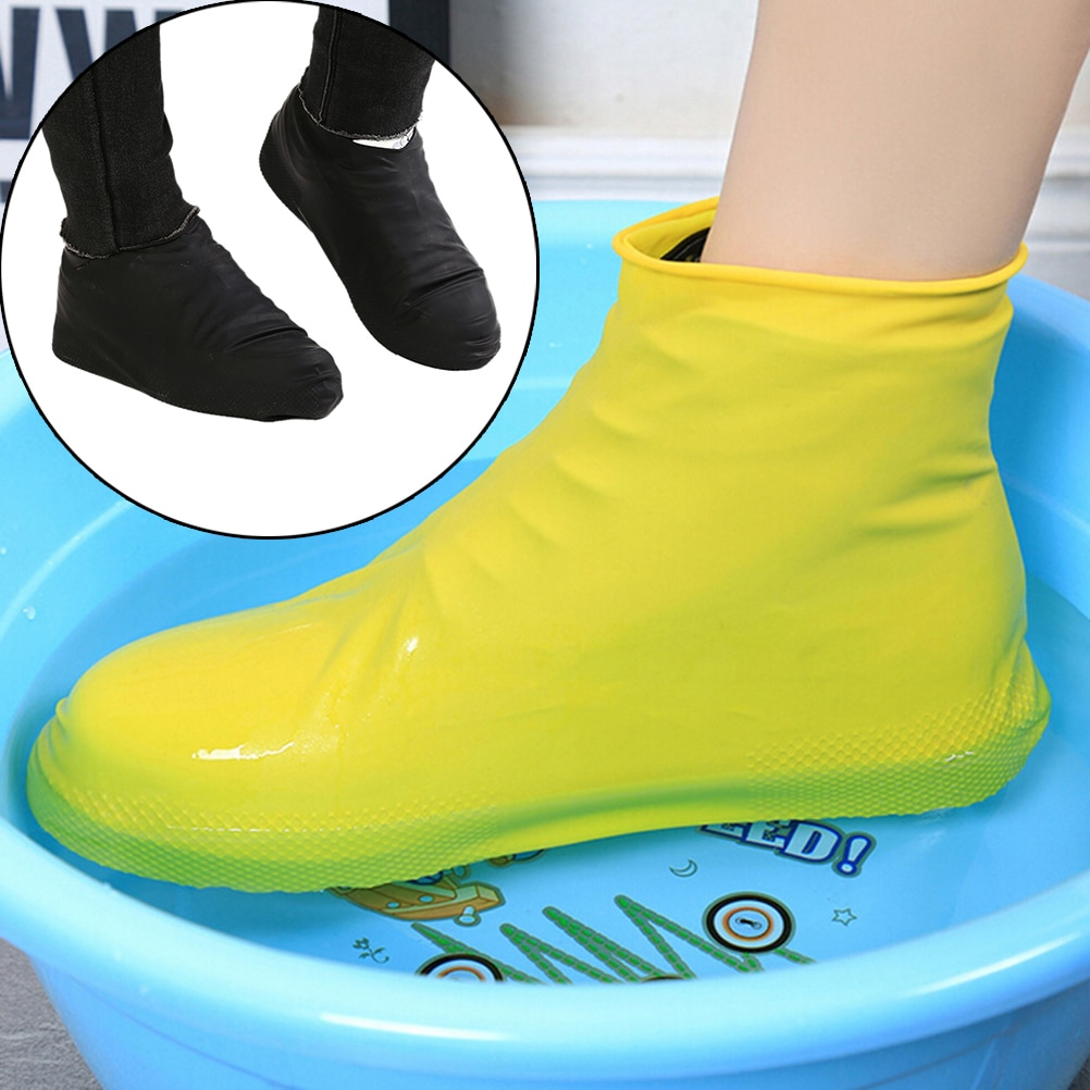 AliExpress - 1 Pair Reusable Silicone Shoe Cover S/M/L Waterproof Rain Shoes Covers Outdoor Camping Slip-resistant Rubber Rain Boot Overshoes
