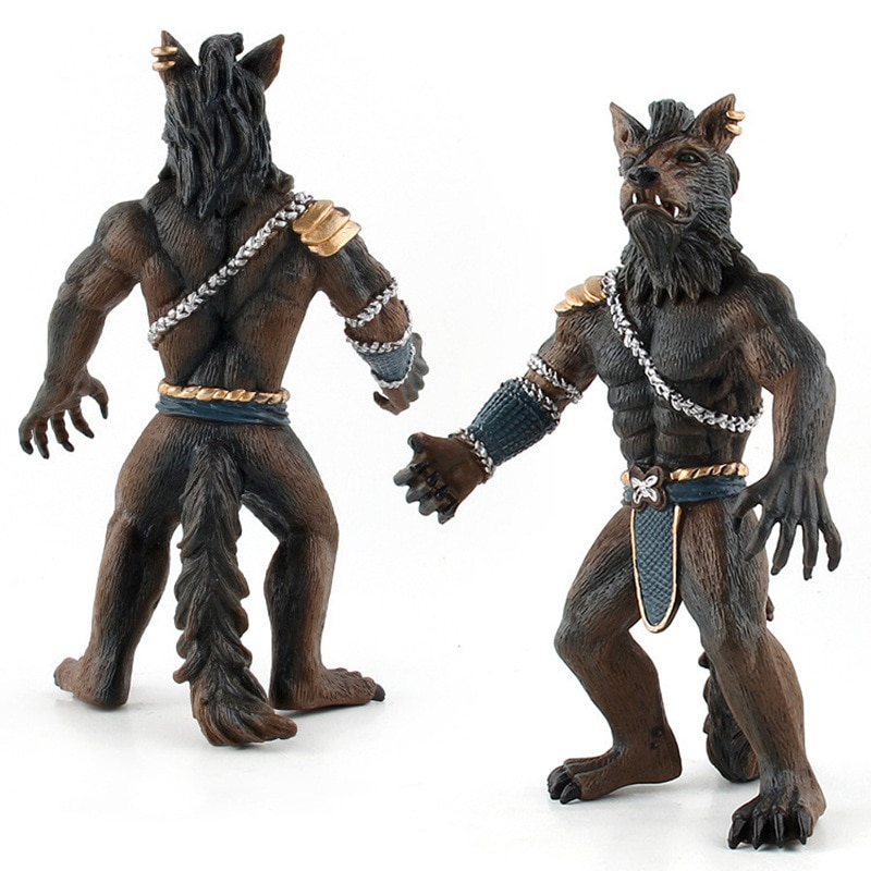 simulation pvc figure series of marine animals toys decoration new boxed toy model gift 13pcs set Simulation Animal Werewolf Warrior Model Soldier PVC Solid Plastic Action Figure Home Office Desk Decoration Collection Toy Gift