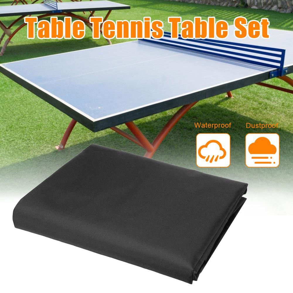 Cubierta de mesa Pings Pong negra impermeable Anti-Protección contra el polvo cubierta de almacenamiento de tenis de mesa Protector de muebles 280*150*5cm
