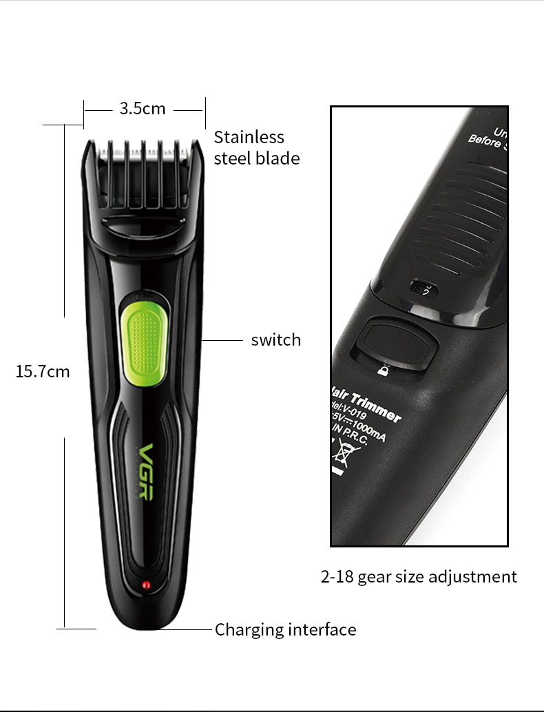 Multifunction Professional Clipper  Electric Hair Shaver USB Rechargeable Waterproof Beard Trimmer  Razors  Adult Hair Trimmers enlarge