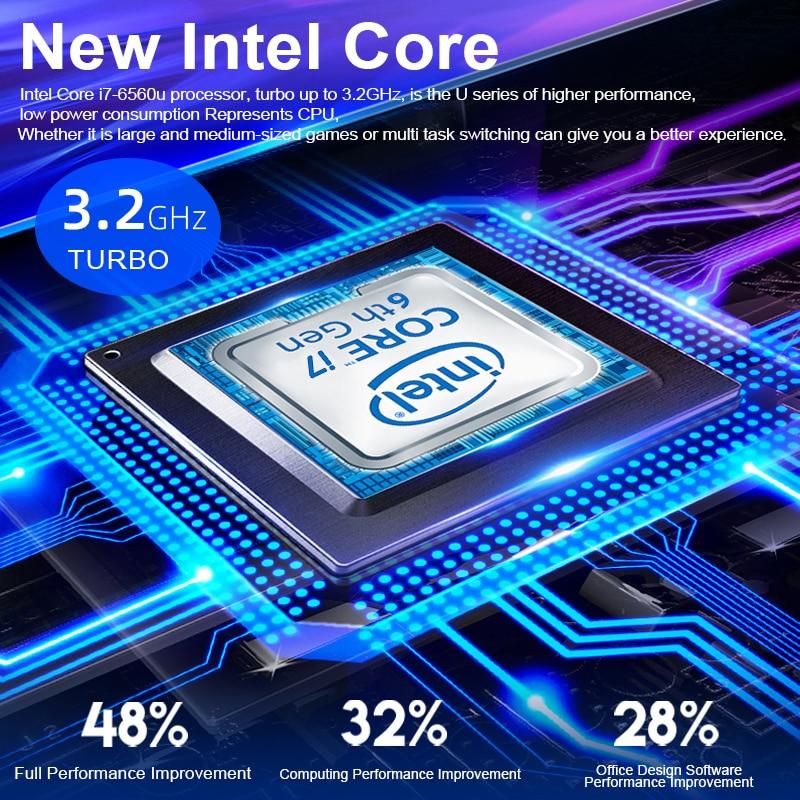 Core i7 6560U Laptop 15.6 inch 4G/8G/16G DDR4 1TB 128G 256G 512G Notebook Computer Gaming Laptops Backlit Keyboard IPS Screen