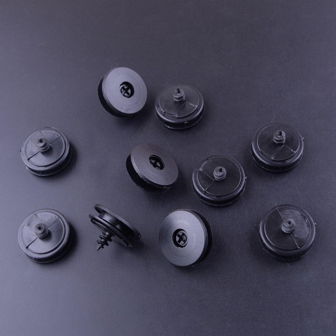 Alfombra Interior de plástico negro para coche de 30 Uds. CITALL, estera de suelo, sujeción de tornillo de retención antideslizante, Clips de sujeción de retenedor