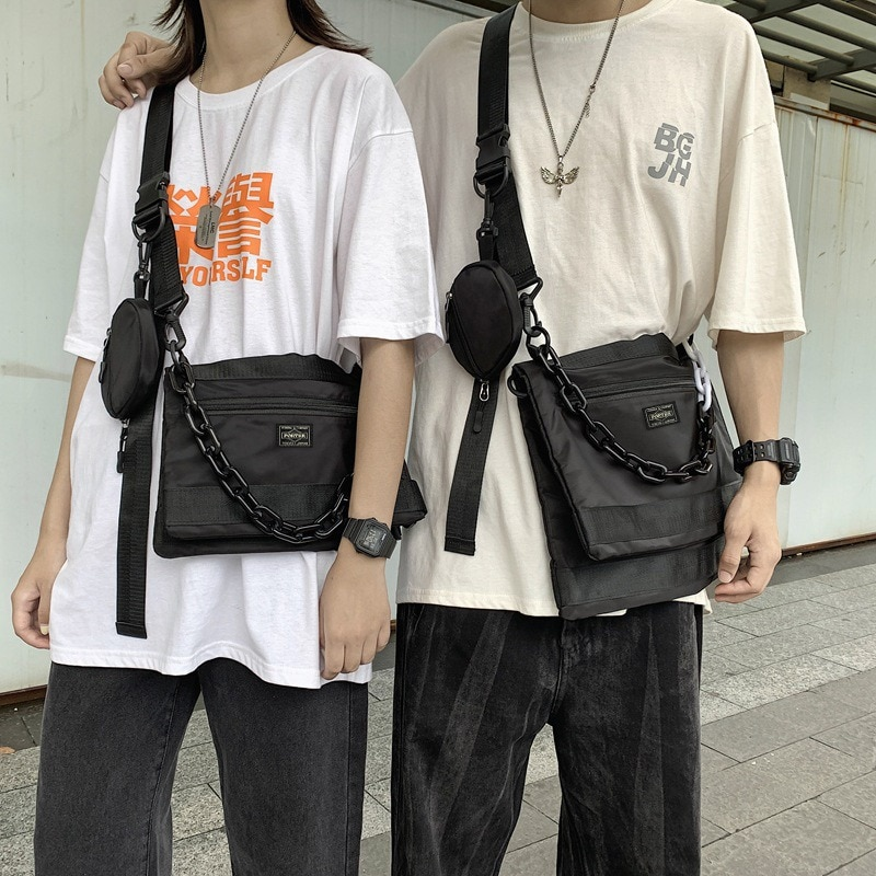 Yoshida بورتر الرجال حقيبة صدر للرجال اليابانية ماركة الموضة حقيبة كتف حقيبة كتف صغيرة حقيبة كتف الخصر حقيبة حقيبة ساعي