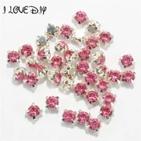 200pcs 4mm wholesale silver crystal rhinestone metal beads sew jewelry findings for diy decoration bracelet necklace accessories