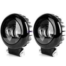 5 дюймов 30 Вт Круглый Светодиодный точечный светильник светодиодный светильник для мотоцикла колес техники высокой проходимости, автомобильные диски 4x4 тягач бездорожья 12В противотуманный светильник s