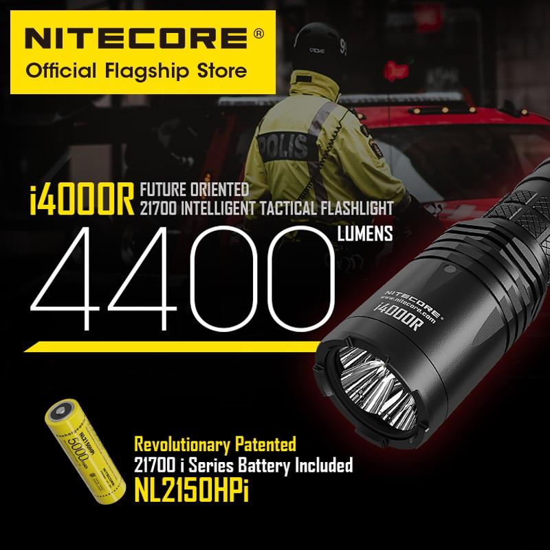 NITECORE i4000R 4400 lumens high performance super light type-c duty Strobe tactical flashlight with 5000mAh 21700 Battery enlarge