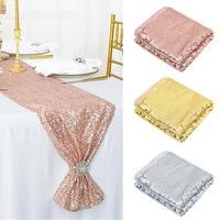 1 шт., с блестками, розовое золото, настольная дорожка s для свадебного украшения, с блестками, для дня рождения, свадьбы, вечеринки, дома, чайн...