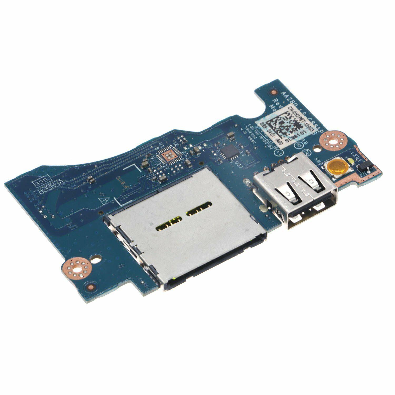 JIANGLUNNEW الطاقة زر USB بطاقة قارئ مجلس لديل XPS 13 9343 9350 9360 LS-C881P