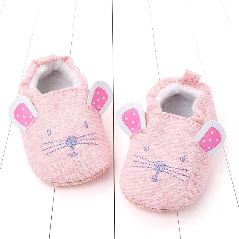 Zapatos de bebé niño niña primavera primeros caminantes zapatos bonitos suela blanda dibujos animados ratón zapatos infantil vestido para andar cuna zapatos 0-18M