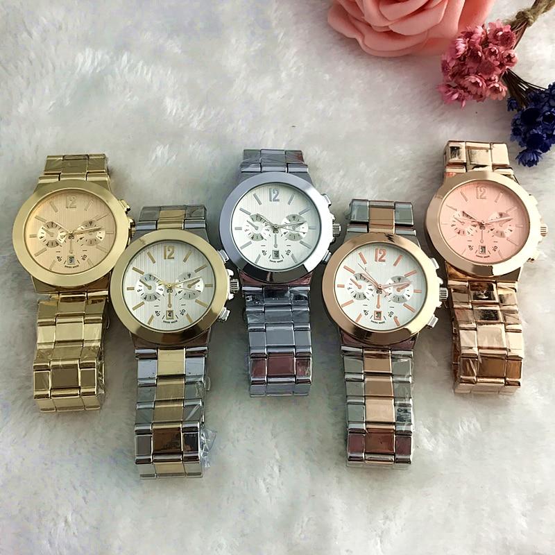 2019 NEUE Edelstahl Männer Frauen 5 Stil Paare Runde Uhren Mode Luxus Schmuck Geschenk Präzision Temperament Exquisite