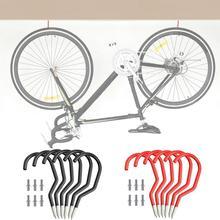 Soporte de pared para bicicleta, 2 colores, colgador de pared para garaje o bicicleta, accesorios de montaje con gancho, almacenamiento de 15CM x 6,6 CM, 6 piezas/s S1J0