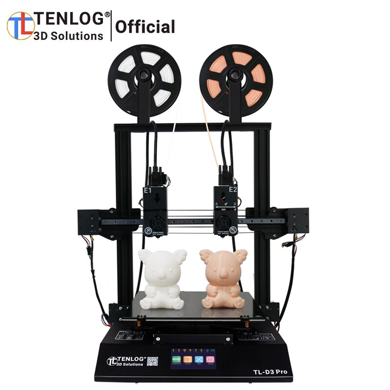 New TENLOG TL-D3 PRO With TMC2208, Independent Dual Extruder  3D Printer, 300 Degree High temperature Nozzle, 600W Power Supply sovol sv02 3d printer with all metal dual extruder silent mainboards tmc2208 drive meanwell power supply 4 3 inch touchscreen 240 x 280 x 300 mm