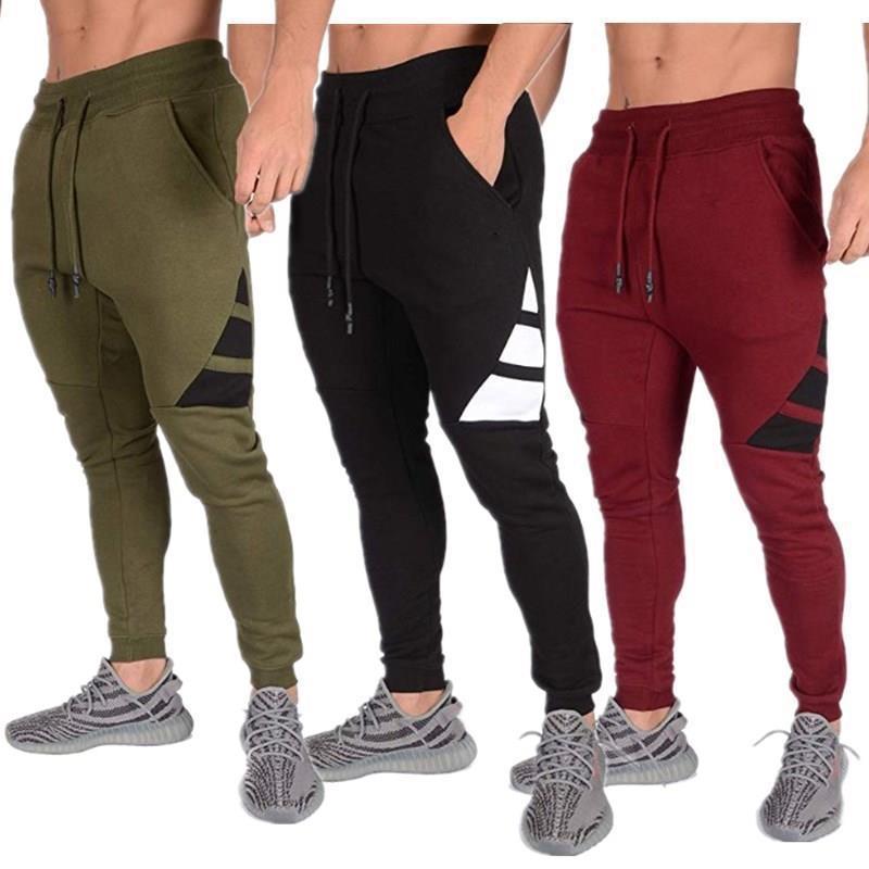 Novo hip-hop calças de fitness moda jogging roupas masculinas esportes casuais calças de rua
