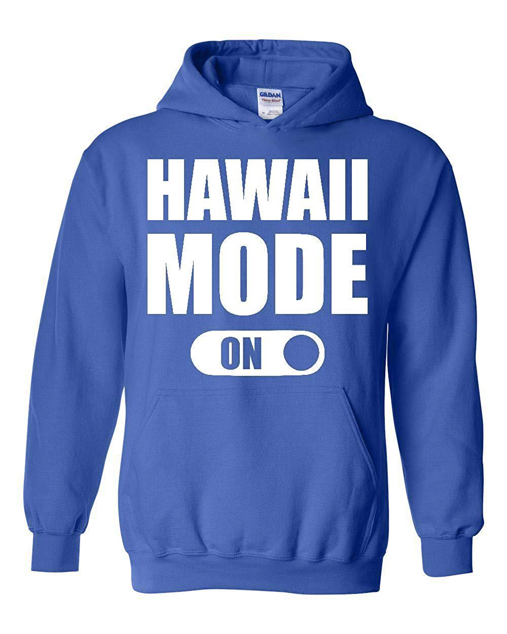 Hawaii Modus Auf Honolulu Maui Hawaiian Inseln Unisex Hoodie Sweatshirt (3XLRB) Royal Blau Unisex männer frauen hoodie