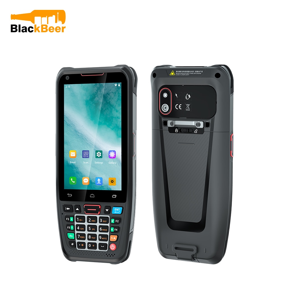 UNIWA HS002 Slim Handheld Mobile Phone with 1D/2D Laser Scanner 2G 16G Android 10 SmartPhone for QR Code PDA Barcode Cellphone