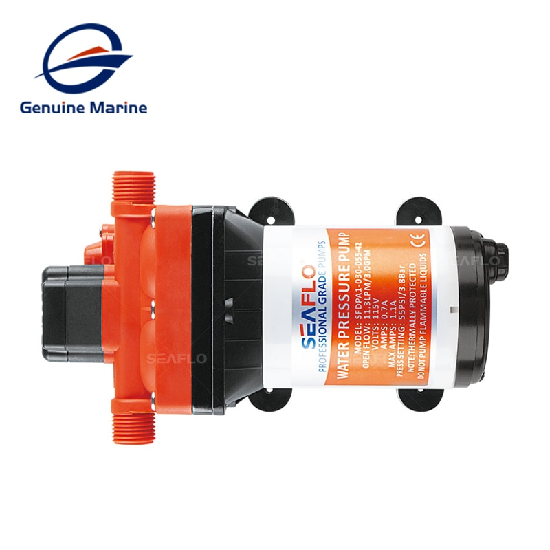 Seaflo 42 Long Series Diaphragm Pump 12V High Pressure Water Supply System 18.9L Self Priming Pump for RV Boat Yacht Stable enlarge
