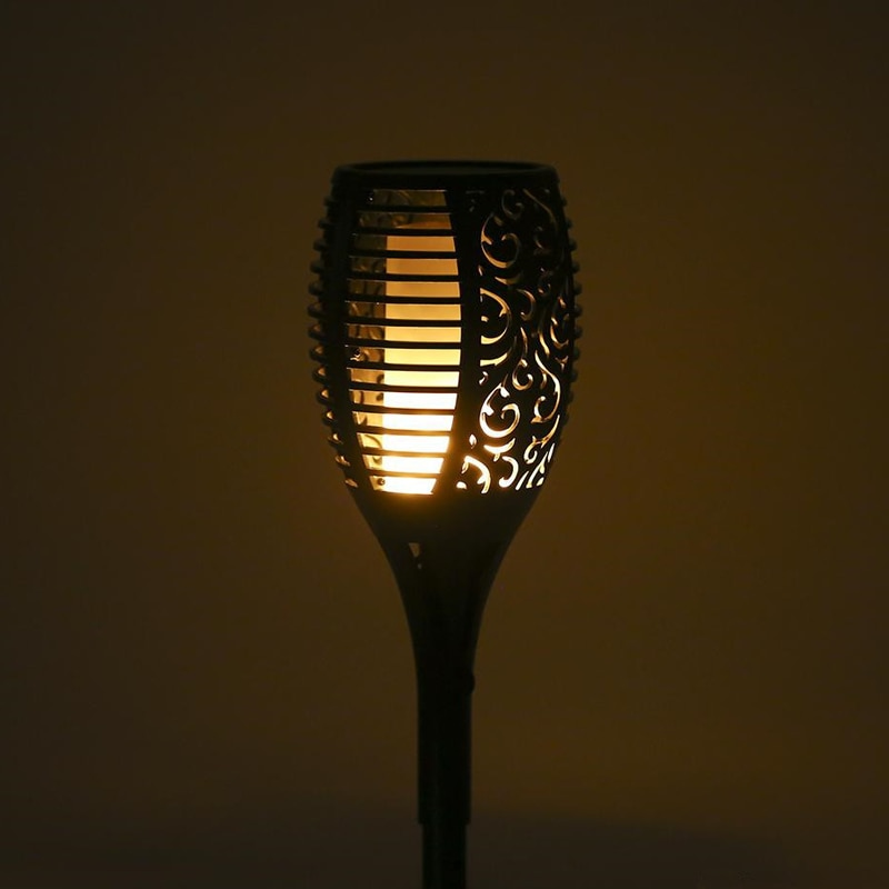 Llama linterna Solar luces 2 unids/lote bailando parpadeo lámpara Mpow nuevo LED impermeable linterna Solar Luz Jardín luces lámpara de césped