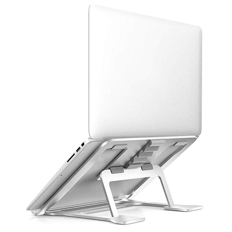 Soporte ajustable de aluminio para ordenador portátil, Compatible con Apple Mac MacBook de 10 a 14 pulgadas, Banco de escritorio ergonómico ventilado Mou