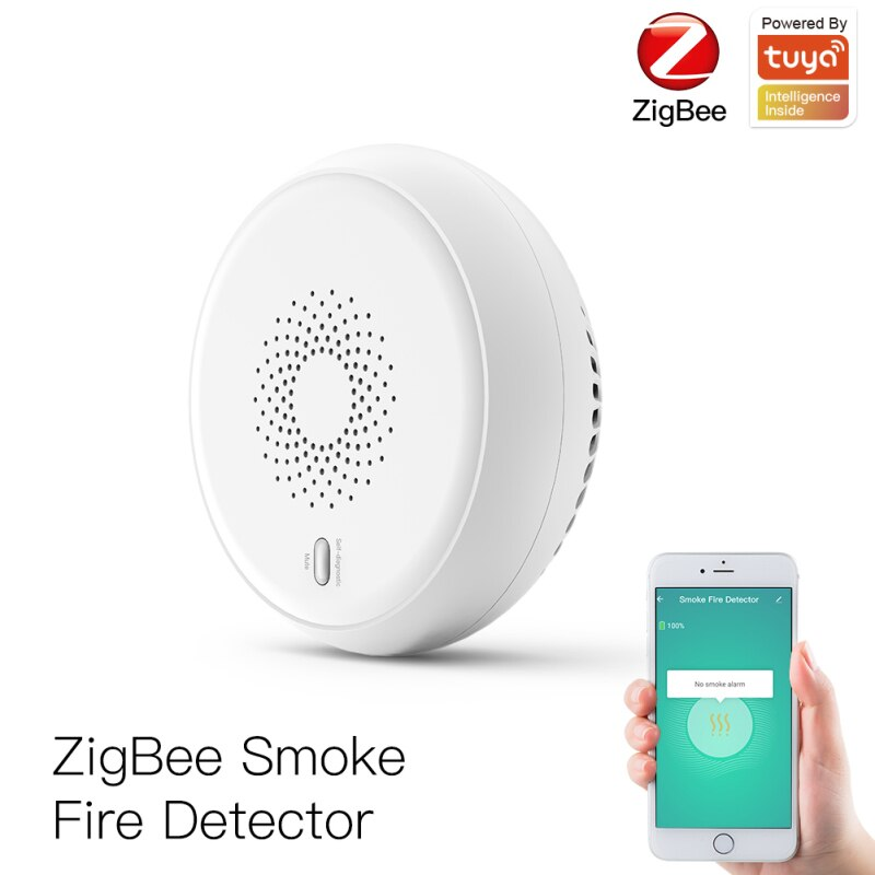 Tuya Zigbee Smart Smoke Detector Sensor Security Alarm System Smart Life/tuya App Smoke Alarm Fire Alarm Safe Home Protection