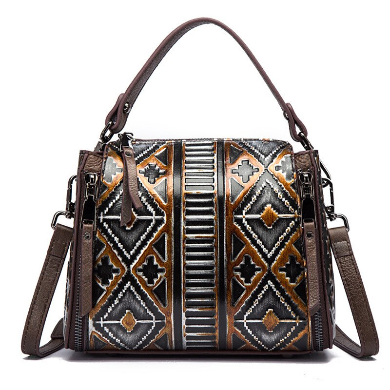 Factory direct sales of retro women's bags original hand-colored European and American head layer psoriate one-shoulder handbag