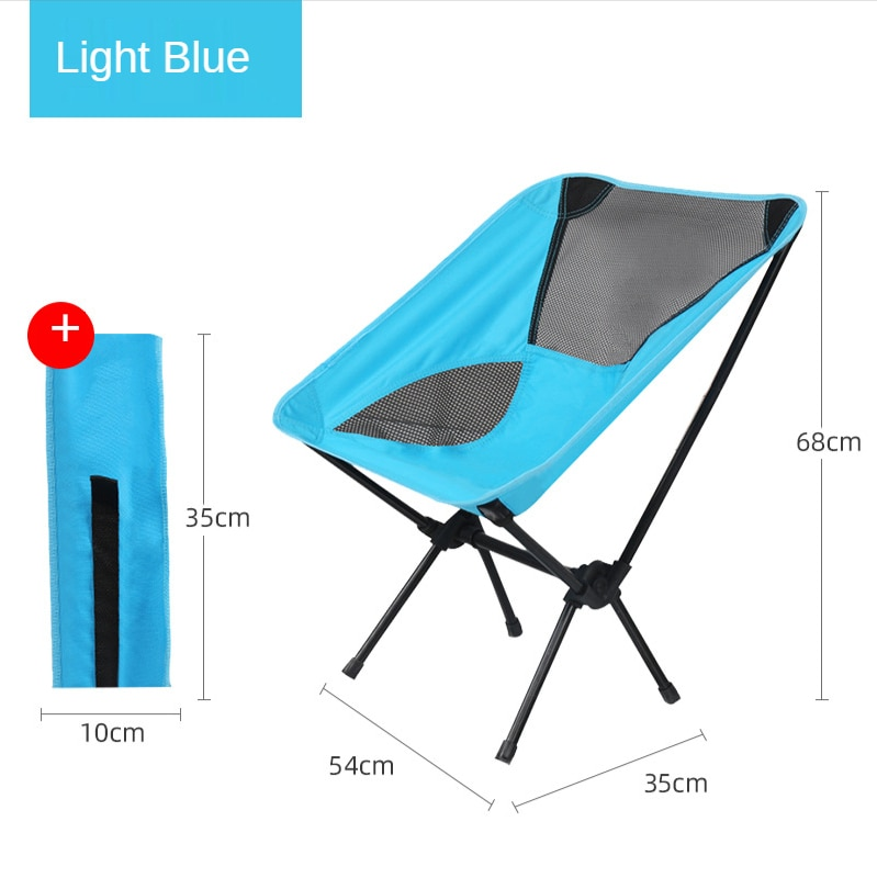 Outdoor Folding Seat Furniture Ultralight Carrying Fishing Chair Sketching Camping Lunch Break Recliner Moon Chair Picnic enlarge