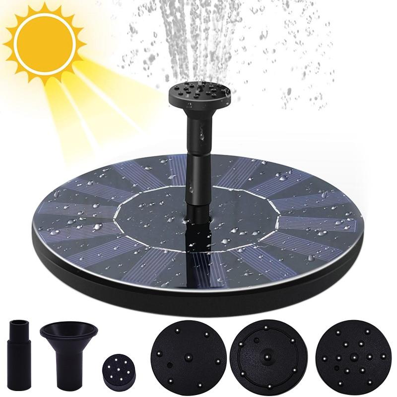 نافورة الماء الشمسية المصغرة بركة بركة نافورة شلال حديقة الديكور في الهواء الطلق حمام الطيور بالطاقة الشمسية نافورة المياه العائمة