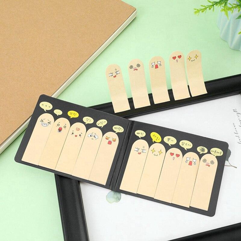 1 Uds 200 páginas Kawaii Scrapbooking único diez pegatina de dedos Pestaña de marcapáginas banderas marcador de libro de notas adhesivas papelería de oficina