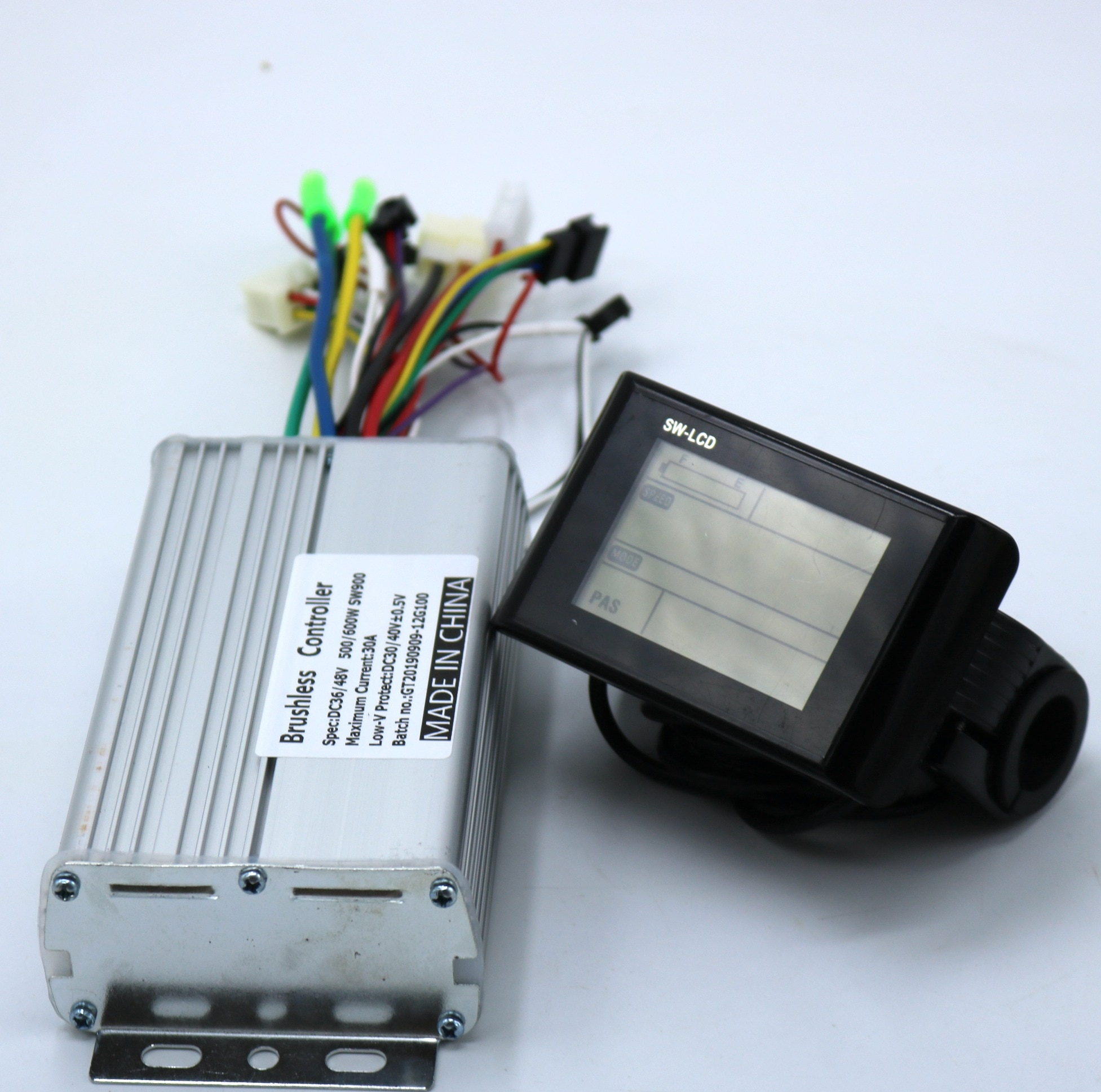 Greentime 36V 48V 60V 500W 600W  Brushless DC Motor Controller Ebike Controller +SW-LCD Display One Set