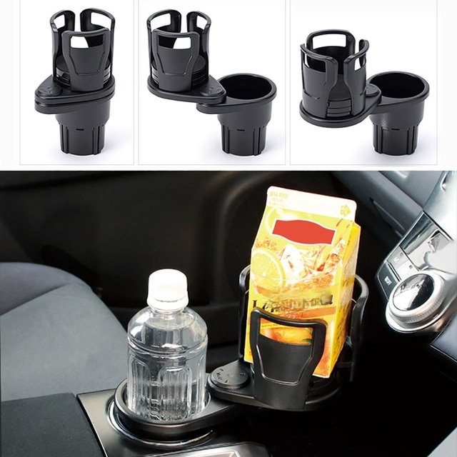 360 Degree Rotating 2 In 1 Cup Holder Vehicle-mounted Slip-proof Water Car Cup Holder Multifunctional Dual  Auto 6