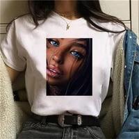 fashion 2020 summer t shirt woman harajuku kawaii beautiful black girl female t shirt leisure streetwear ropa mujer tshirt top