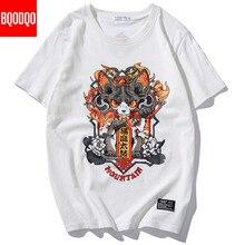 Streetwear Japanese Funny Anime Print T Shirts Mens Harajuku Short Sleeve Oversized T shirt Cotton Fashions Hip Hop Tshirt Tees