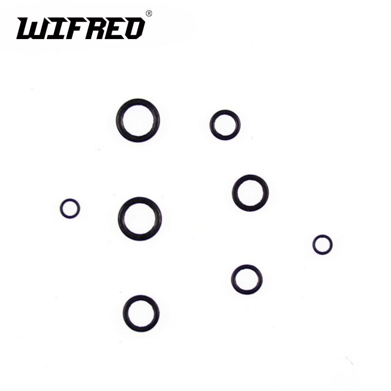 Wifreo 30 Uds plano redondo negro mate O anillo aparejo para pesca de carpa Terminal aparejo accesorio 2mm 2,5mm 3,1mm 4mm Tippet aparejo de anillo