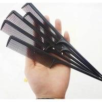 5pcs1set carbon fiber anti static comb salon hairdressing combs static anti heat comb comb resistant dropshipping g3p7