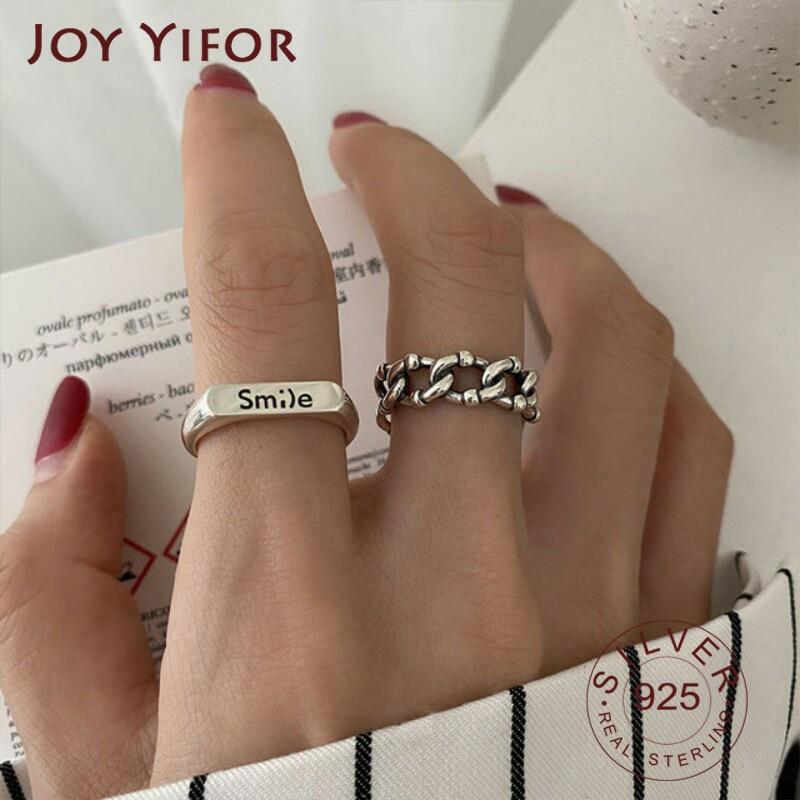 925-стерлингового-серебра-в-Корейском-стиле-цепи-в-виде-улыбающихся-букв-указательный-палец-кольцо-для-женщин-Ретро-стиль-ручной-работы-по
