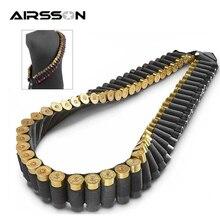 50 balas Tactica bolsa de munición 12GA soporte de la cáscara del arma Airsoft Rifle cartucho cinturón militar botón al aire libre caza Accesorios