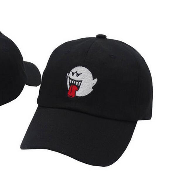 Gorra VORON Mario Ghost dad 100% algodón bordado, gorra de béisbol, gorra con dibujo de enamorados, gorra de ocio Unisex de moda para exteriores
