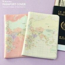 2019 موضة خريطة العالم جواز سفر كوف لينة بولي leather جلدية بولي Leather جلدية معرف البنك حافظة للبطاقات الرجال النساء حافظة جواز السفر حافظة جواز سفر