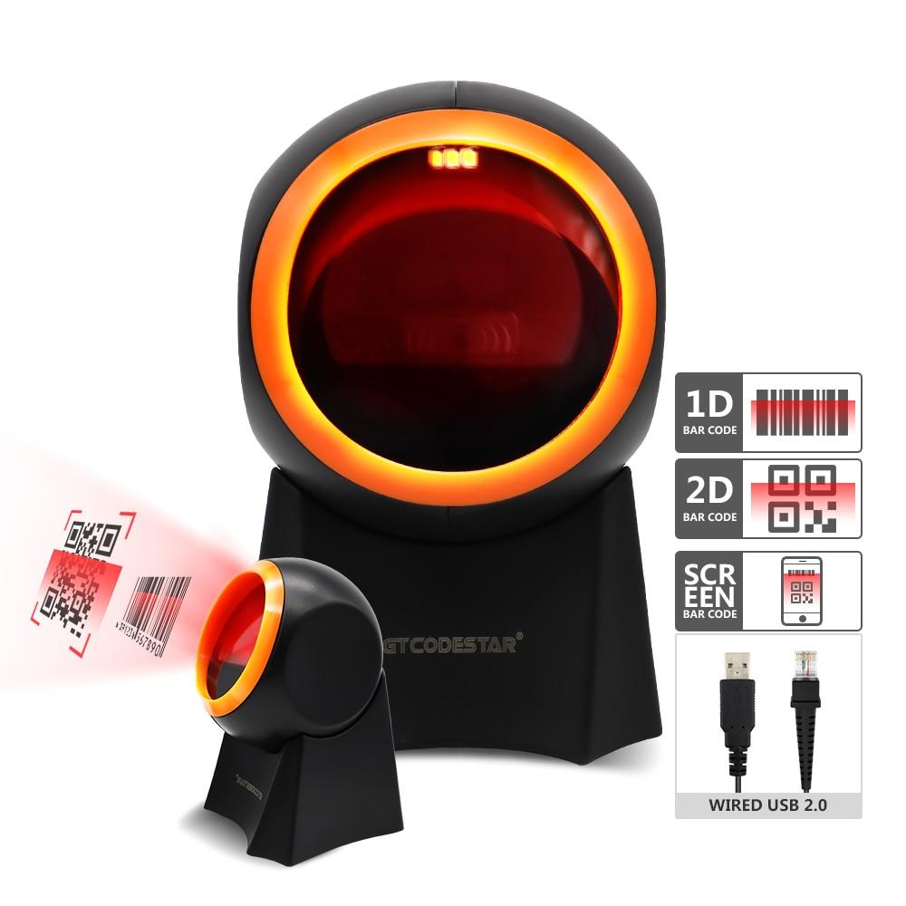 Дешевый настольный 2D сканер QR-кода GTCODESTAR, проводной сканер штрих-кода для супермаркета
