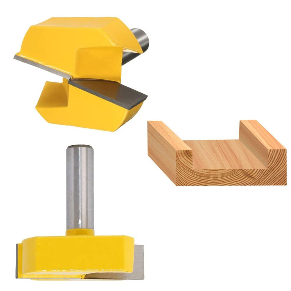 Cleaning Bottom Router Bits With 8mm Shank 2-1/4 Cutting Diameter For Surface Planing Router Bit For Woodworking Carving