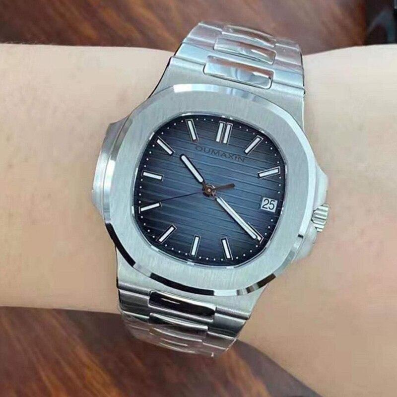 ساعة رجالي ميكانيكية أوتوماتيكية miyota8215 المستوردة 316L الفولاذ المقاوم للصدأ ساعة يد صلب ساعة الذكور B516711 ساعة الذكور