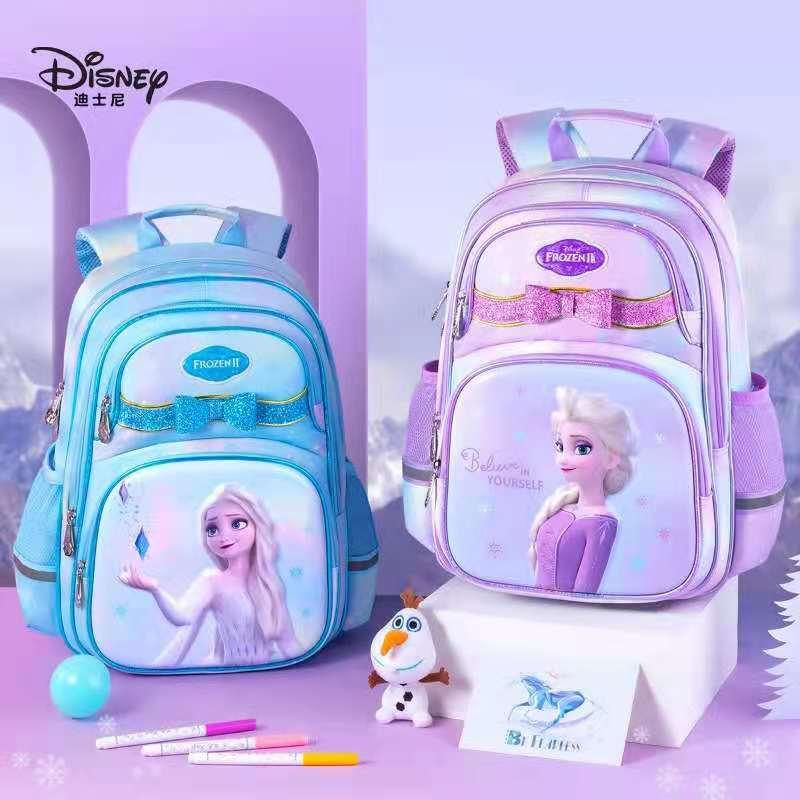 2021 Disney Frozen School Bags For Girls Primary Student Shoulder Orthopedic Backpack Elsa Anna Grade 1-4 Kids Gifts Mochilas