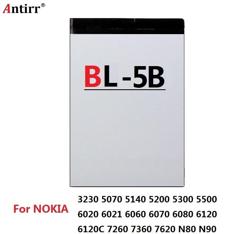 Antirr Original BL-5C BL-5B BL-5F BL-5K BL-5J BL-5CT reemplazo de batería de teléfono móvil para Nokia Li-Ion baterías recargables