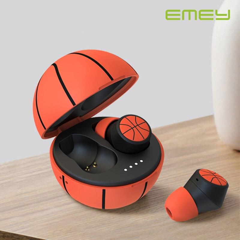 Беспроводные спортивные наушники EMEY TWS, водонепроницаемые bluetooth-наушники для баскетбола