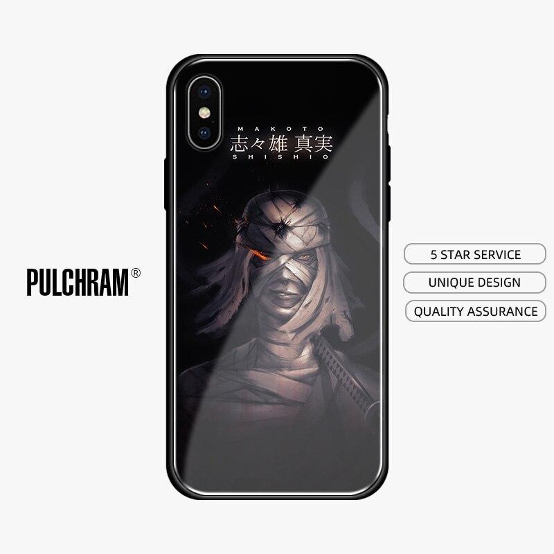 Funda de teléfono de cristal de silicona suave Makoto Shishio Rurouni Kenshin para iPhone 5, 5S, SE, 6, 6S, 7, 8 Plus, X, Xr, Xs, 11 Pro Max