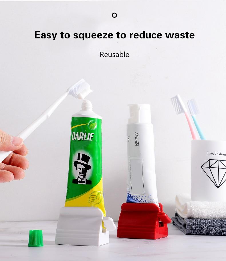 Multifunction Toothpaste Tube Squeezer Toothpaste Squeezer Toothpaste Seat Holder Stand Rotate Toothpaste Dispenser for Bathroom enlarge