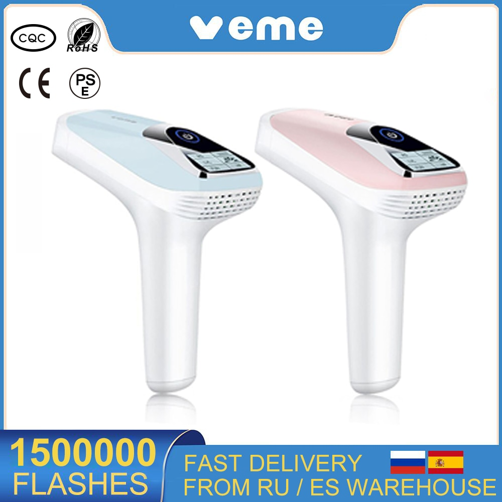 Veme 150,0000 Flashes IPL Laser Epilator For Women Home Use Devices Permanent Electric Hair Removal Machine Bikini Depilador