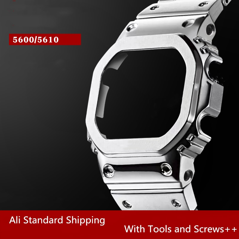 316L Stainless Steel Watch Band And Bezel For Dw5600 Gw-m5610 Gw-5000 With Tools 9 Colors  Wholesale Dropshipping enlarge