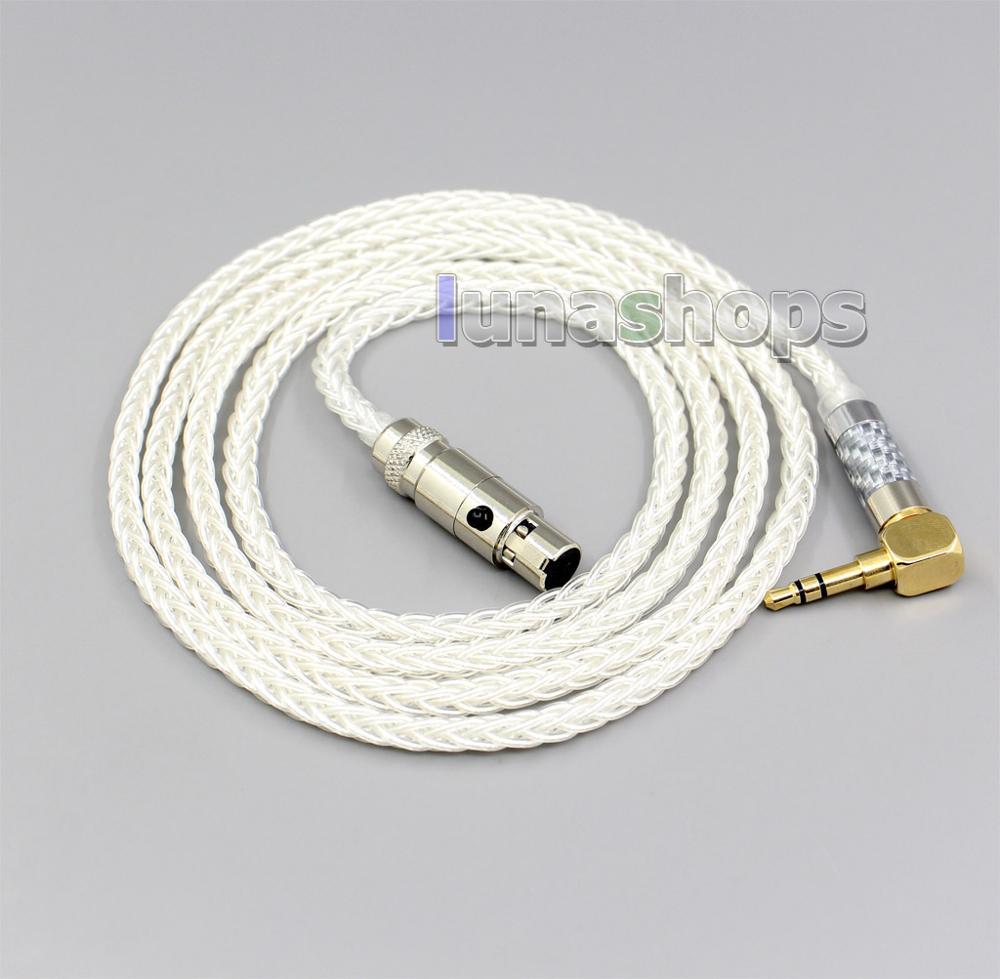 4,4mm, XLR 2,5mm 99% plata pura 8 Core Cable de auriculares para...